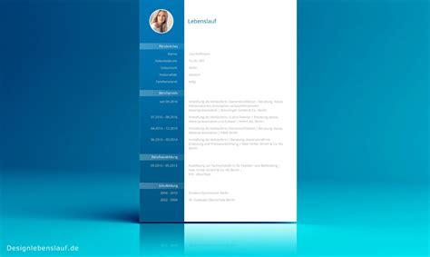 Lebenslauf Formatvorlage Lebenslauf Beispiel Mit Anschreiben Und Design Deckblatt