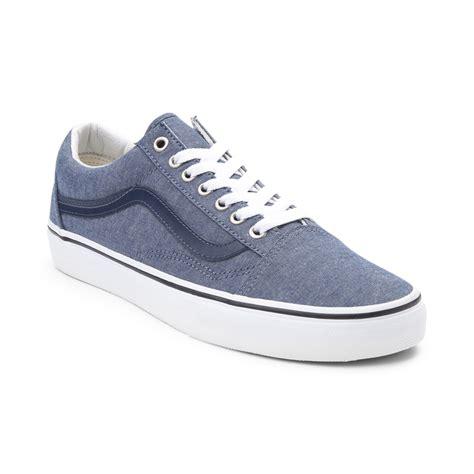 vans skool skate shoe blue chambray 497024