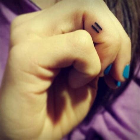 equal tattoo on finger 385 best tattoo ideas images on pinterest inspiration