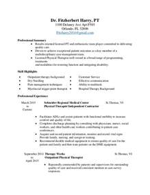 Resume Physical Therapist by Physical Therapy Resume