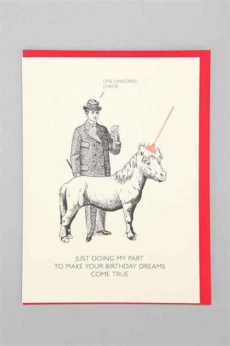 Win Urban Outfitters Gift Card - black white red all over unicorn birthday card urban outfitters