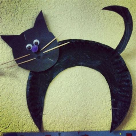 Black Craft Paper - black cat for preschool activities and