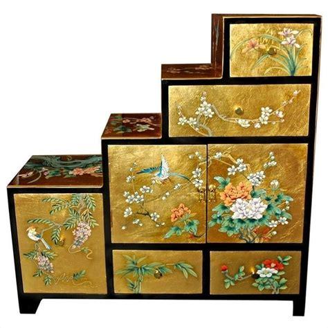 oriental accent l company oriental furniture leaf step tansu gold accent chest
