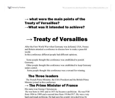 Treaty Of Versailles Essay by Treaty Of Versailles Essay Conclusi