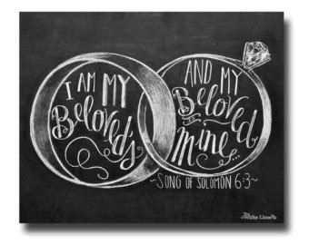 Wedding Anniversary Audio Songs In by Wedding Sign I Am My Beloveds Song Of Solomon 6 3