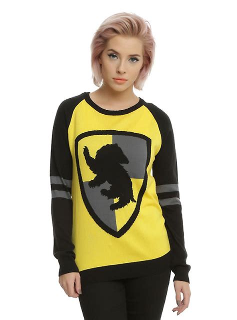 Harry Potter Sweater Black harry potter hufflepuff sweater topic