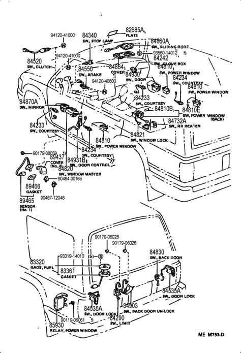 1993 toyota 4runner switch relay
