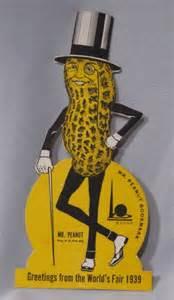 mr peanut planters world s fair bookmark