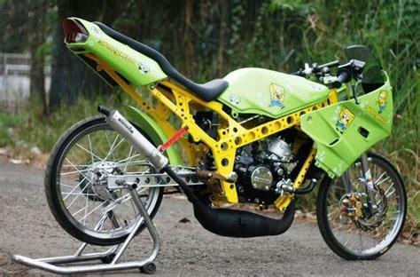 gambar modifikasi motor r 150 gaya drag bike otomotif tren