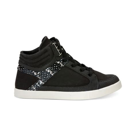 womens high top sneakers part 1 calvin klein women s lyda high top sneakers in black lyst
