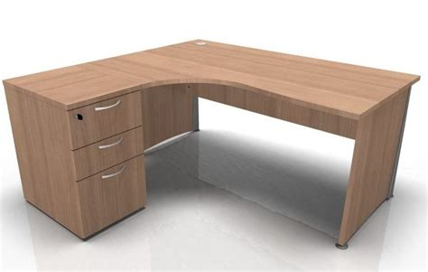 Left Corner Desk Left Corner Desk And Pedestal Bundle Osmose 1600mm Reality