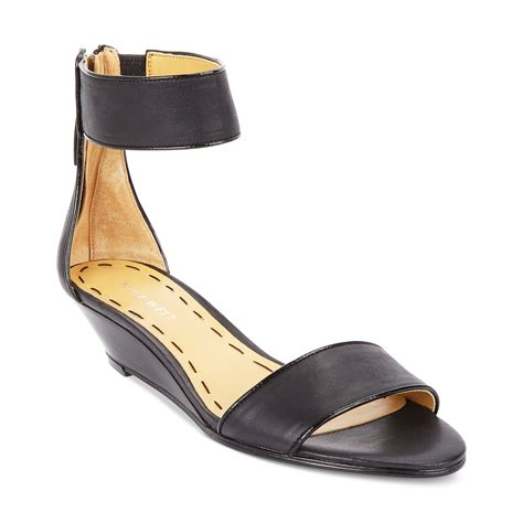 nine west sandal wedges nine west vilta demi wedge sandals in black black black