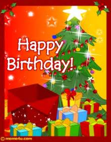 happy birthday christmas card christmas birthday free ecard