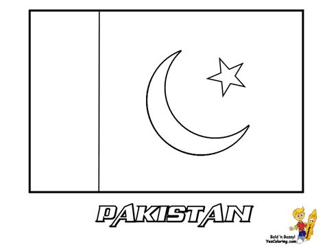 Pakistan Flag Coloring Page free pakistan flag coloring pages