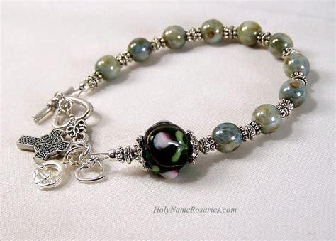 Handmade Rosary Bracelets - strengthen your brethren celtic rosary bracelet