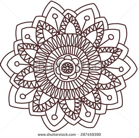 indian floral set ethnic mandala ornament vector henna stock images royalty free images vectors