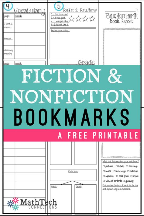 printable nonfiction bookmarks bookmark book report printable