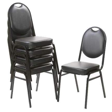 black stacking padded chair seating  chair rentals   event