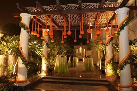 home decor ideas for indian wedding traditional floral decoration at the entrance indian