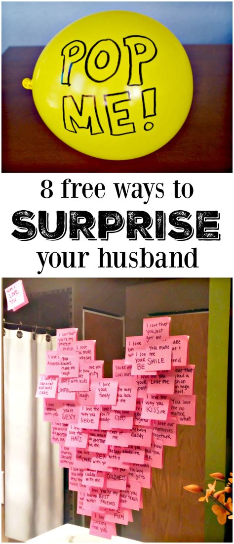 8 Ways To Cheer Up Your Husband by 8 Meaningful Ways To Make His Day Free Gift And