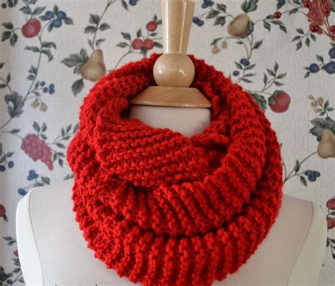 pattern for knitting an infinity scarf basic knit infinity scarf allfreeknitting com