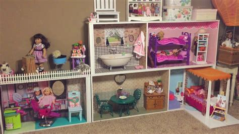 cheap american girl doll houses how to make an american girl dollhouse cheap easy youtube