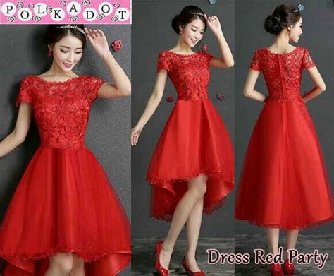Korea Dress Pendek Brukat Mini Dress Brokat 436 baju dress brukat merah model terbaru cantik murah