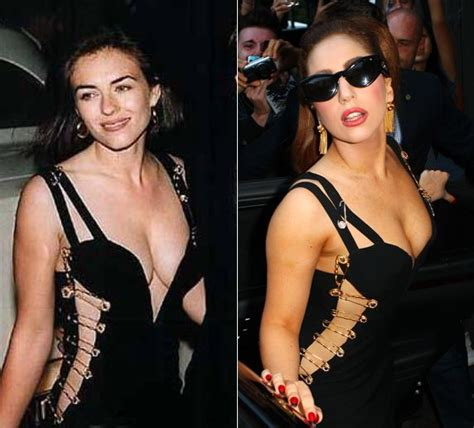 Buy Elizabeth Hurleys Safety Pin Versace Dress by Gaga Wears Versace S Elizabeth Hurley Safety Pin