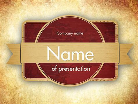 vintage label theme presentation template for powerpoint