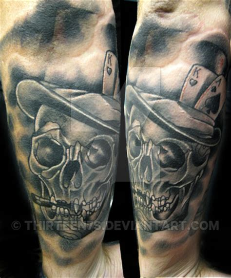 skull with tophat tattoo skull with tophat by thirteen7s on deviantart