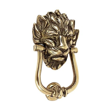Shop Design Toscano 10 Downing Street Lion 8 5 In Entry Exterior Door Knockers