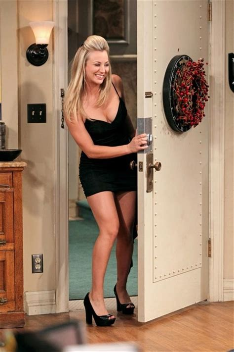 penny tbbt penny looking sexy in black dress dump a day