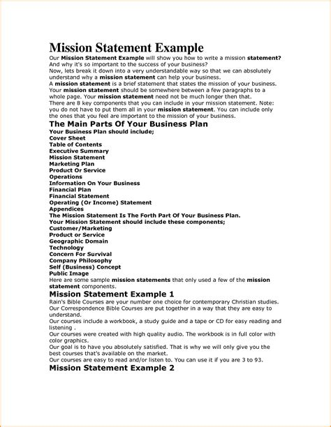 personal mission statement template personal mission statement exles for students student