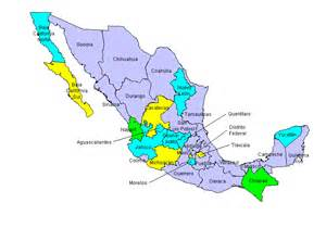 Map Of States Of Mexico by Mexico State Map