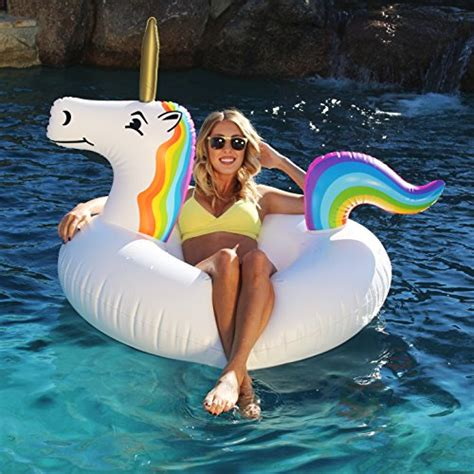 inflatable boat unicorn gofloats unicorn party tube inflatable raft