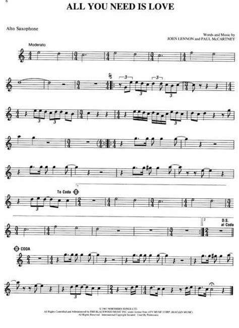 ticket to ride testo best of the beatles 92 titel alto saxophon noten