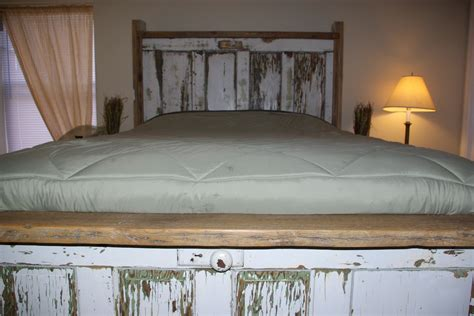 Door Bed Headboard by Reclaimed Rustics Vintage Door Headboard