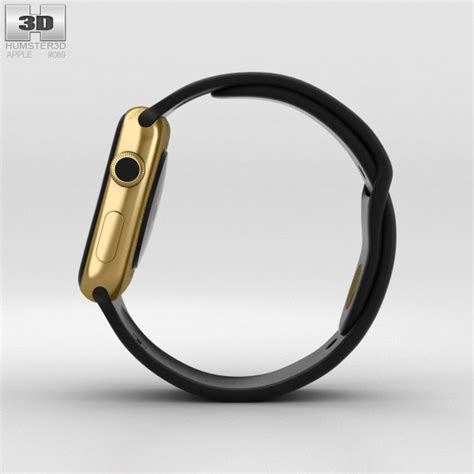 Apple Sport Band Only Yellow 42 Mm apple edition 42mm yellow gold black sport band 3d model hum3d