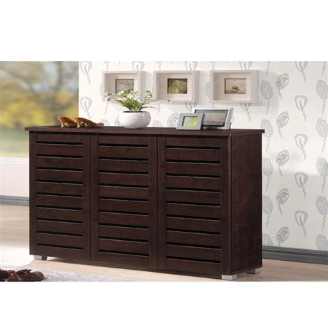 Baxton Studio Marsha Modern Shoe Cabinet by Shoe Cabinet With Open Shelves A Collection By Anglina