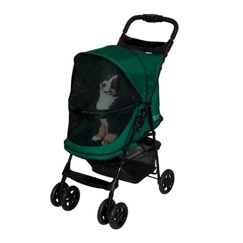 stroller petco pet gear happy trails no zip pet stroller in emerald petco