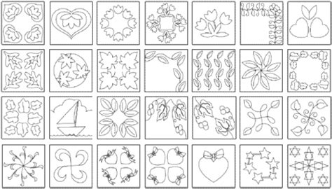 Free Quilt Stencils by 10 Printable Quilting Designs From The Quiltmakers
