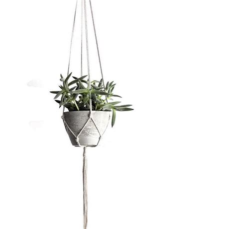 small modern hanging planter concrete planter indoor hanging
