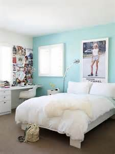Teens Room White Paint Wall Color Cute Teenage Girl