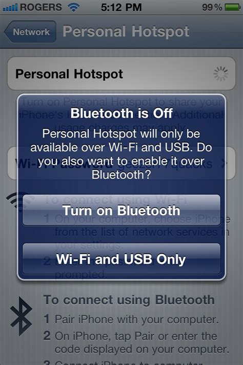 personal hotspot working on canadian gsm iphone 4s