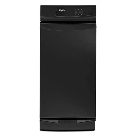 free standing trash compactor whirlpool 15 in freestanding trash compactor in black