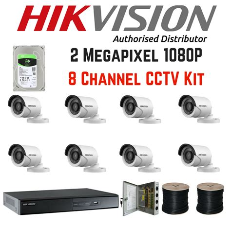 Promo Dvr Hikvision 8 Chanel Hd 1080p Ds Hqhi7208 K2 hikvision 1080p 8 channel turbo hd cctv kit 2tb drive