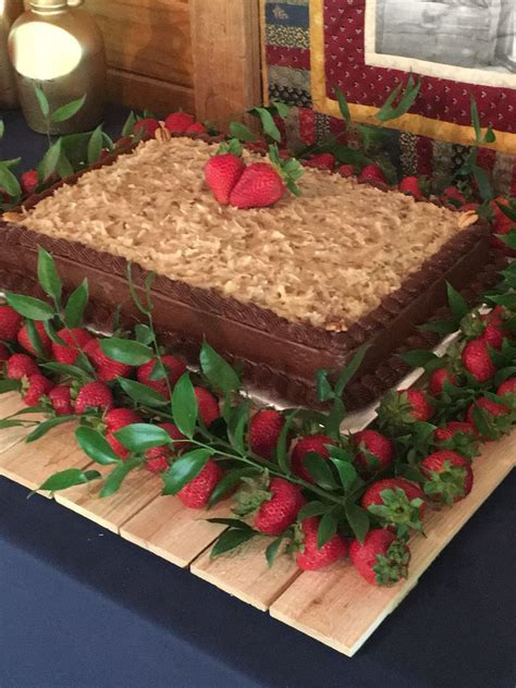 German Chocolate Groom's Cake With Strawberries   my adam