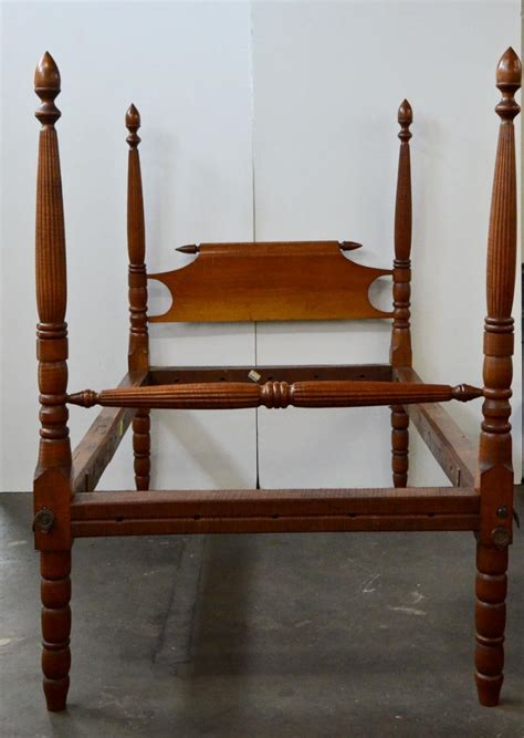 antique rope bed antique tiger maple rope bed