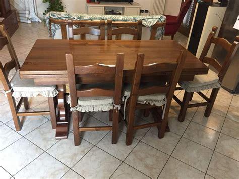 sedie in castagno tavolo e sedie in massello di castagno a livorno kijiji