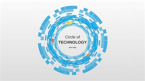 circle of technology prezi template prezibase